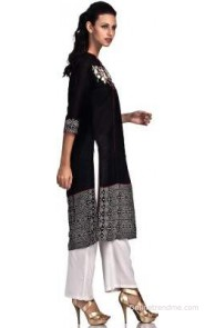 Basil Leaf Party Embroidered Women's Kurti