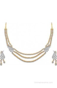 American Diamond Beautiful Brass Jewel Set