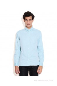 Celio Green Slim Fit Casual Shirt