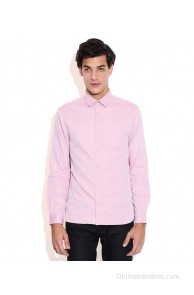 Celio Pink Slim Fit Casual Shirt
