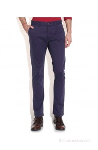 Being Human Purple Regular Casuals Trousers