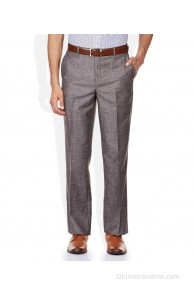 John Players Brown Regular Fit Trousers