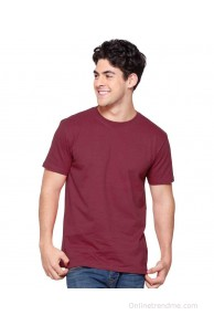 Diwan Advertisers Maroon Cotton Blend Polo T-Shirts