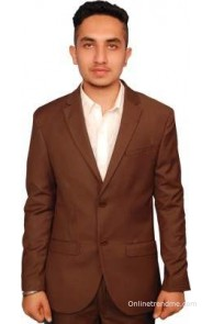 Fashion N Style Solid Single Breasted Formal Men's Blazer