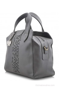 Butterflies BNS-0323 Gray Shoulder Bags No