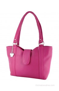 Butterflies Pink PU Shoulder Bag