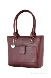 Butterflies Maroon Shoulder Bag