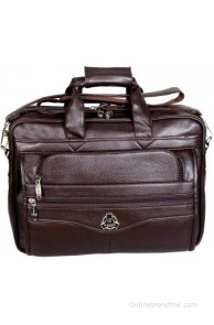 Easies 17 inch Laptop Messenger Bag(Brown)
