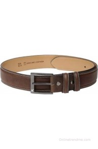 HRX Men Casual Brown Genuine Leather Belt(Brown)