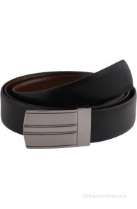 Black, Brown Genuine Leather Reversible Belt(Black, Brown)