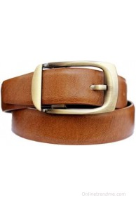 Discover Fashion Men Brown Genuine Leather Belt(Brown-1)