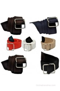 Arip Boys, Girls, Men, Women Formal, Party, Evening, Casual Brown, Blue, Red, White, Beige, Grey, Black Canvas, Fabric Belt(AP-17C8)