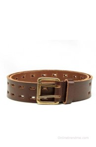 HideCraft Men Casual Brown Genuine Leather Belt(Brown)