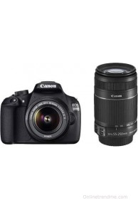Canon EOS 1200D Kit (EF S18-55 IS II + 55-250 mm IS II)(Black)
