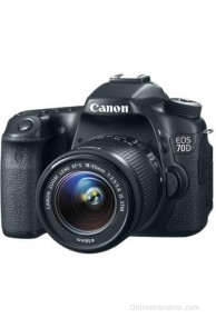 Canon EOS 70D (Body with EF-S 18-55 mm IS STM Lens) DSLR Camera(Black)
