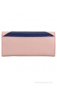 Caprese Milana Pink-Navy P.U Large Box Cluthches