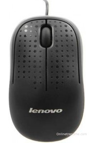 Lenovo M110 Optical Mouse Wired Optical Mouse Mouse(USB, Black)