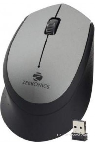 Zebronics Swing Grey Wireless Optical Mouse Mouse(USB, Grey)
