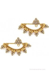 Alankruthi Antique 2 In One Stud Cum Brass Cuff Earring