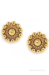 Alankruthi Ethnic Tops Copper Stud Earring