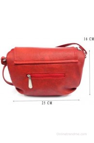 Belladona Girls, Women Casual, Formal Red Leatherette Sling Bag