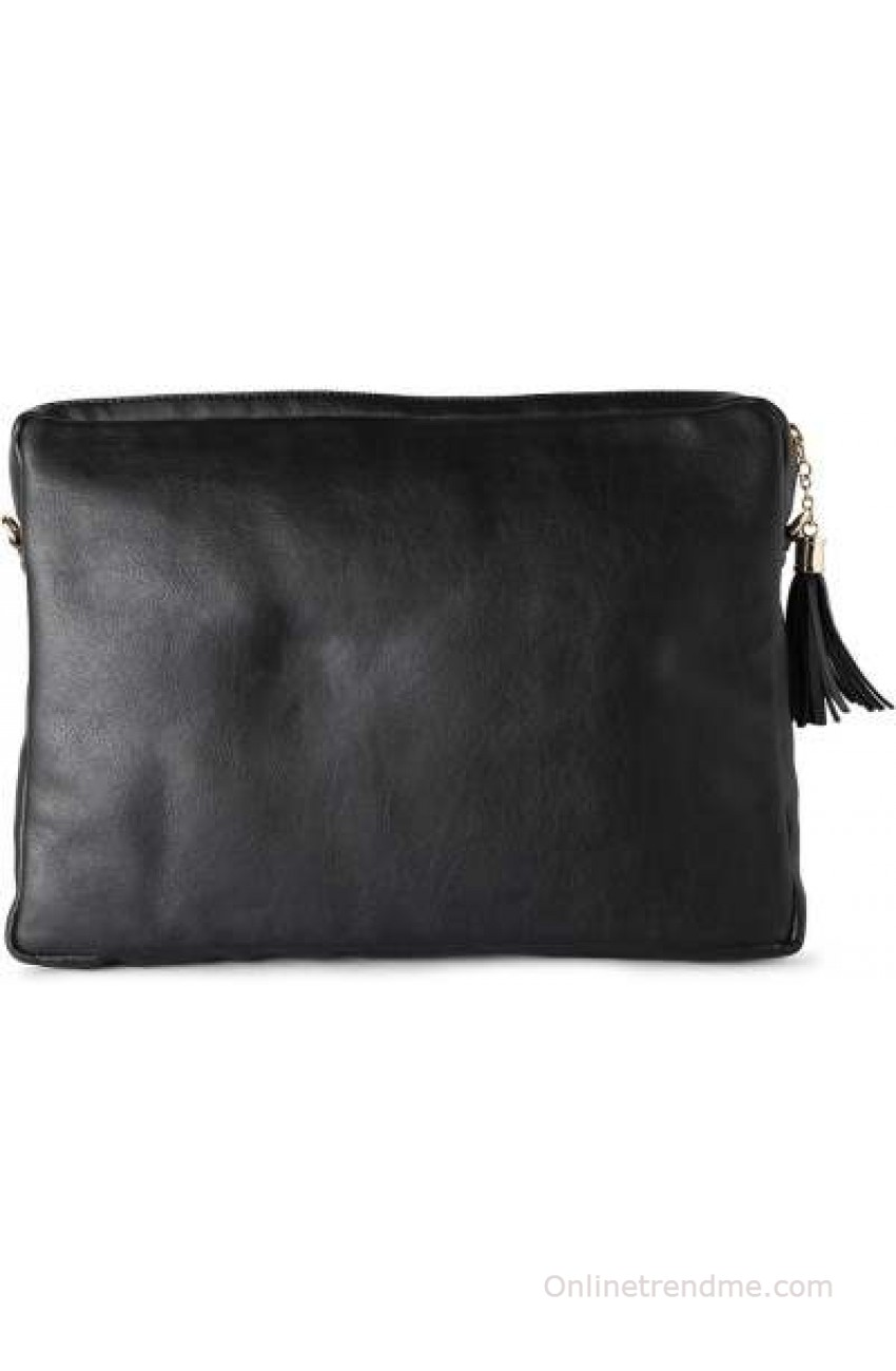 Heusen Women Black Leatherette Sling Bag