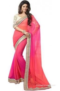 Saree Sarita Embriodered Fashion Chiffon Sari
